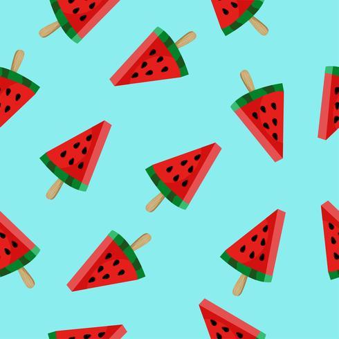 Watermelon slice pattern vector