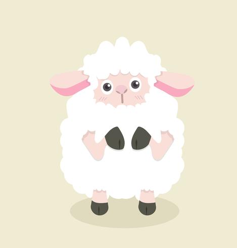 Grappige cartoon kleine schapen