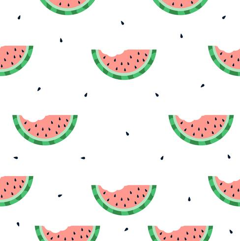 modèle sans couture de morsure de melon d'eau