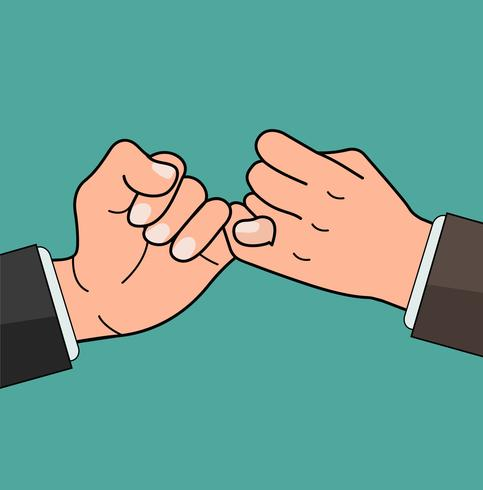 Business Hand  pinky promise concept vector