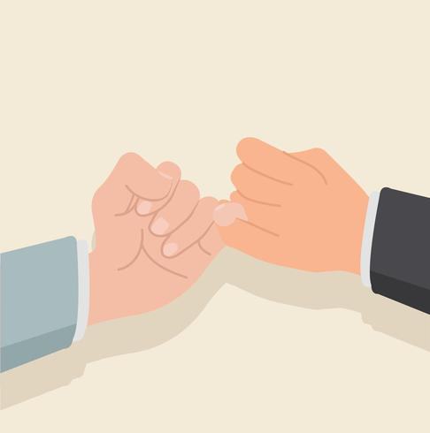 hand holding  flat design vector