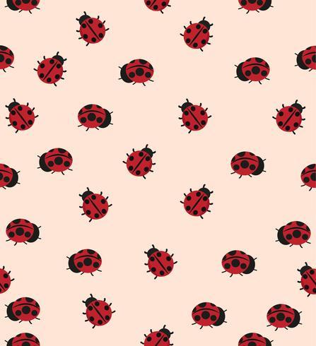 patrón de mariquita roja