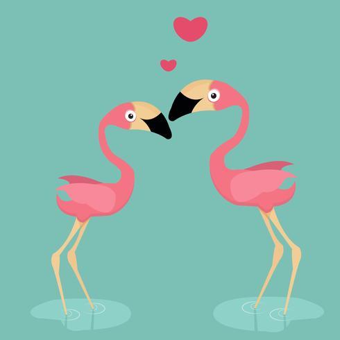 flamingo bonito no amor