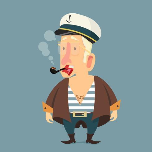 Söt sjöman karaktär kapten