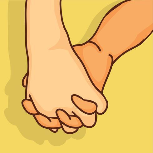 Promesa bocetos de manos vector