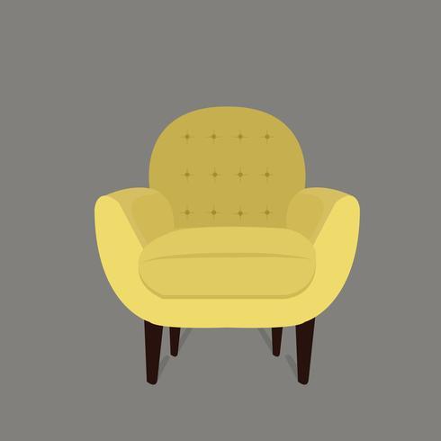 Yellow modern chair vector