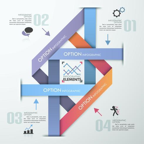 Moderna infographic alternativ banner