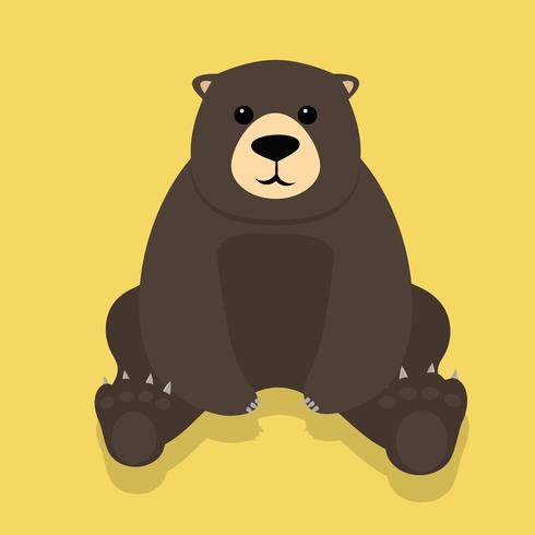 Sitzender Vektor des einsamen Teddybären