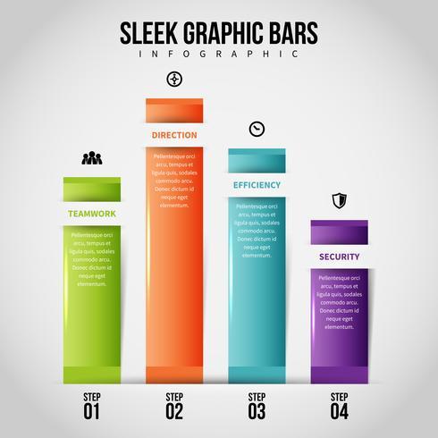 Infographie de barres graphiques épurées