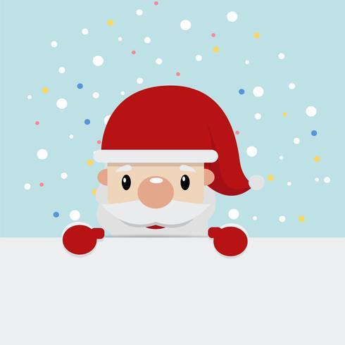 Fundo plano de Papai Noel vetor