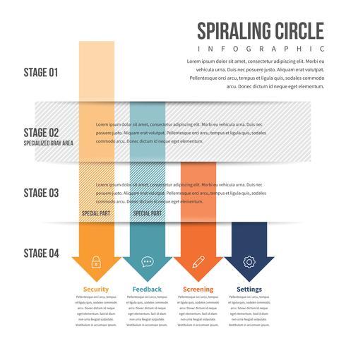 Pil nedåt Stack Infographic