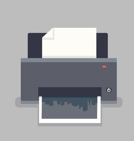 Printers icons  flat  Style