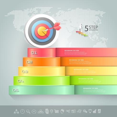 Infographie conceptuelle d'affaires escalier.