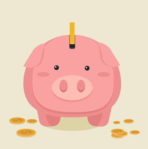 Piggybank cartoon vector