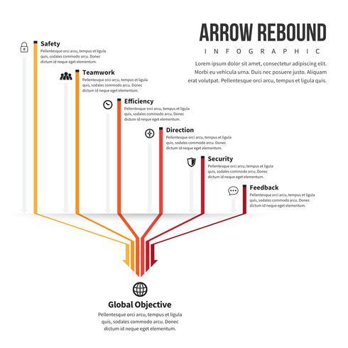 Linea Arrow Fattori Infografica