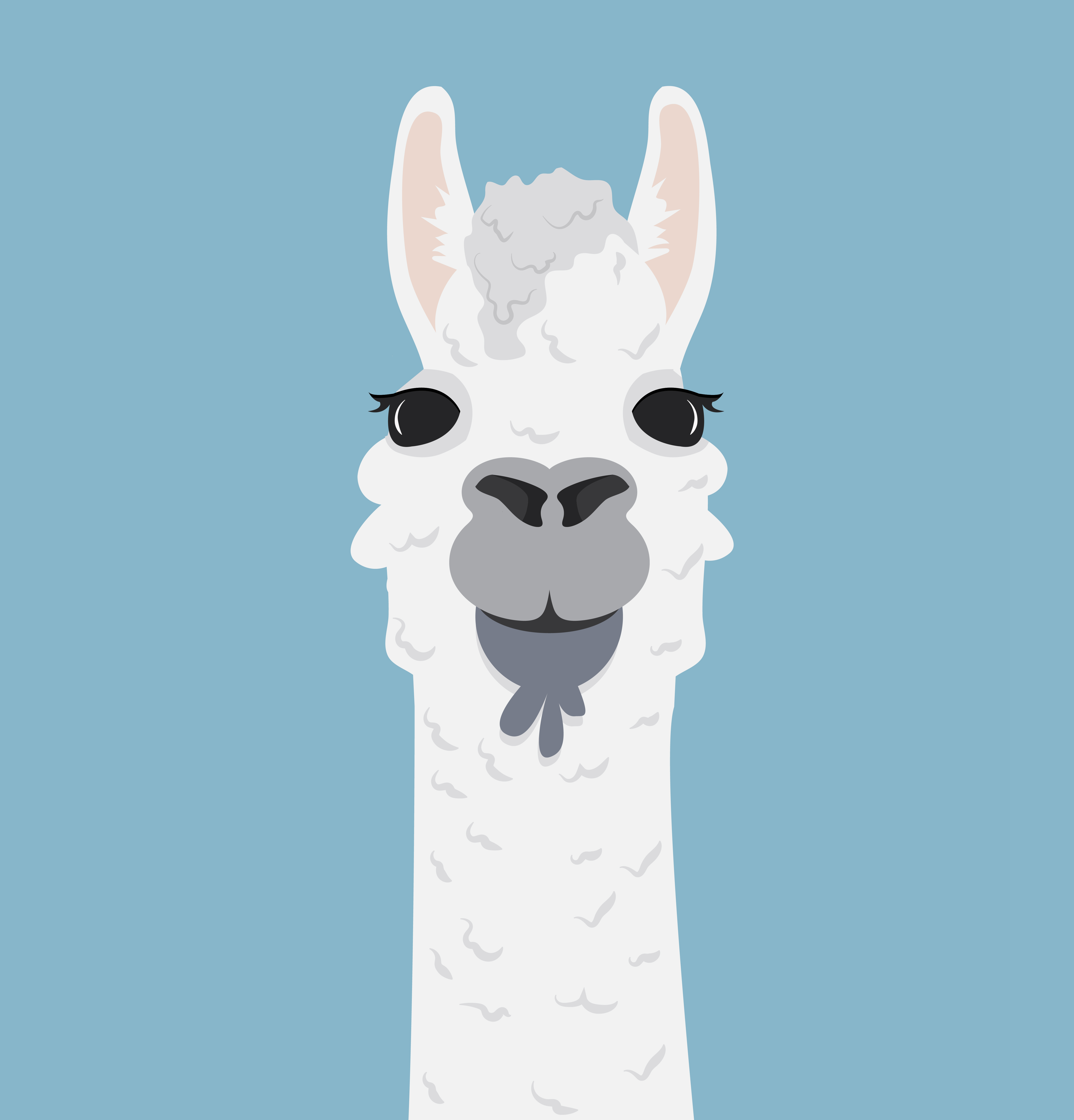 Alpaca lama portrait Vector Illustration - Download Free ...
