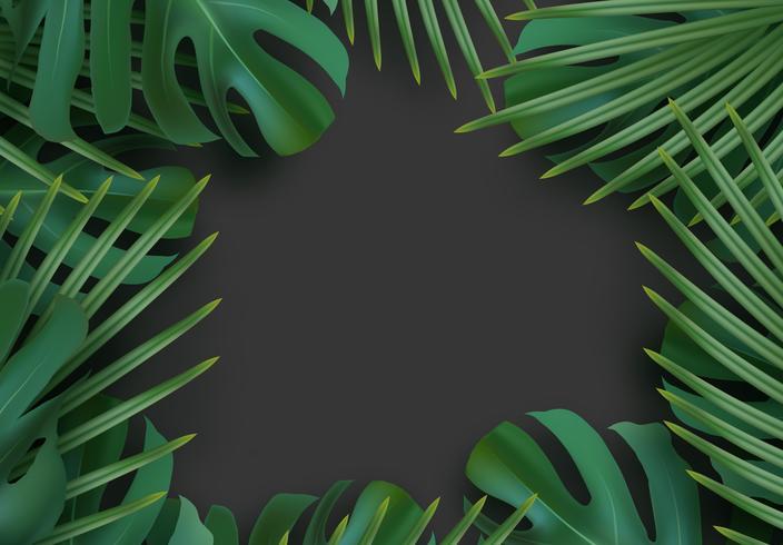 Tropisk bladbakgrund.