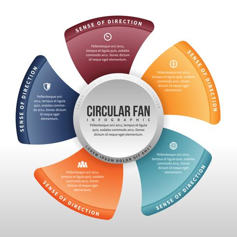 Fan infographie circulaire
