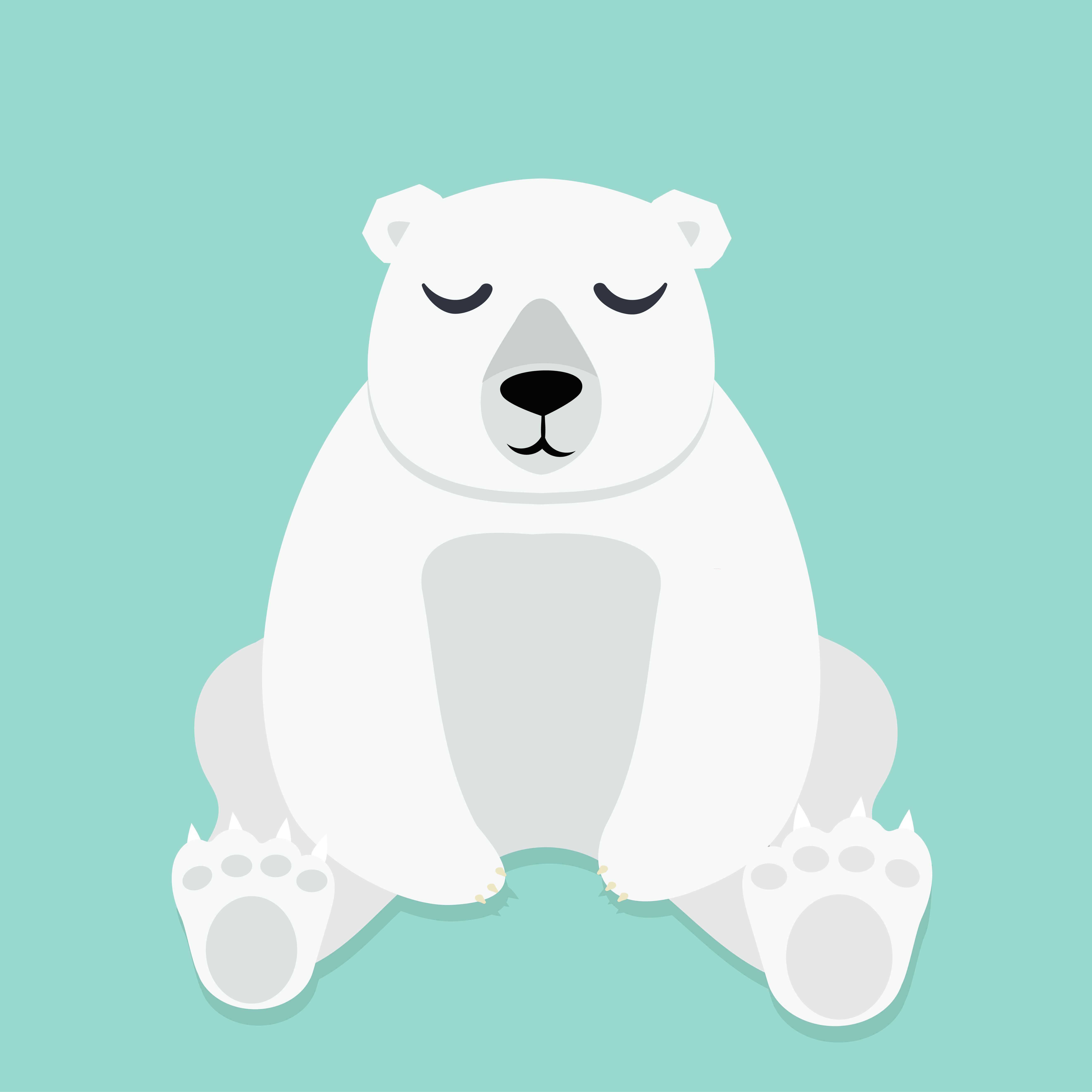 lonely polar bear sitting vector download free vector. Black Bedroom Furniture Sets. Home Design Ideas
