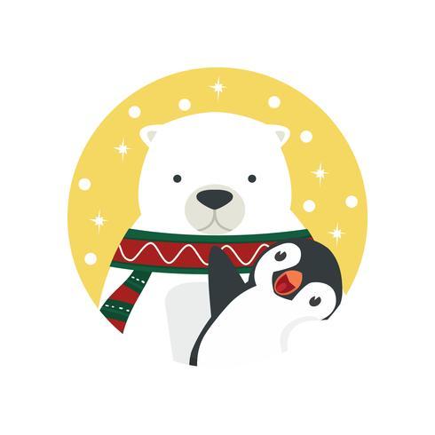 urso polar abraço pinguim