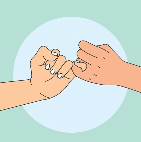 hand holding promise vector