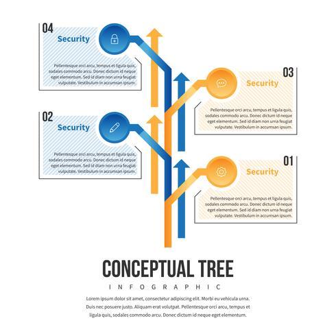 Albero di concetto infografica