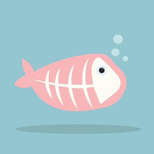 Vettore di pesce a raggi x