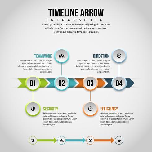 Cronologia Freccia Infografica