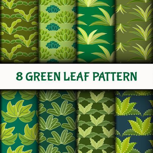 Green Leaf Pattern Set