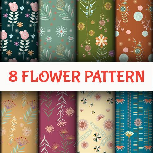 Floral Thaise stijl patroon ingesteld