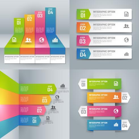 Collection d'infographies colorées