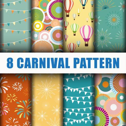 8 Carnival pattern background