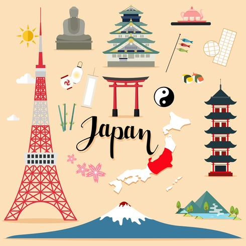 Tourist Japan Travel uppsättning samling