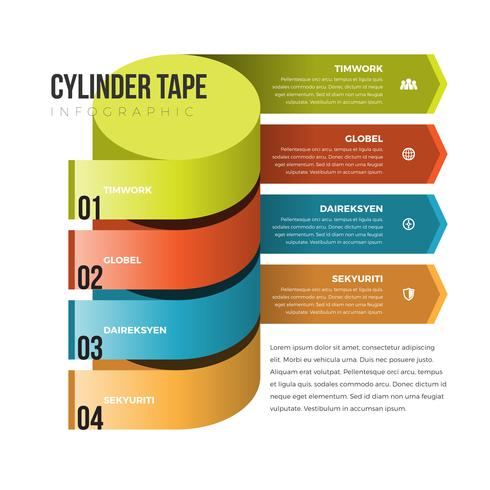 Cylinder Tape Infographic