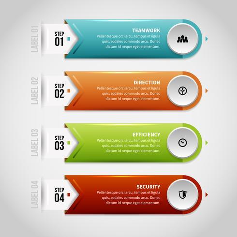 Infographie des étiquettes brillantes