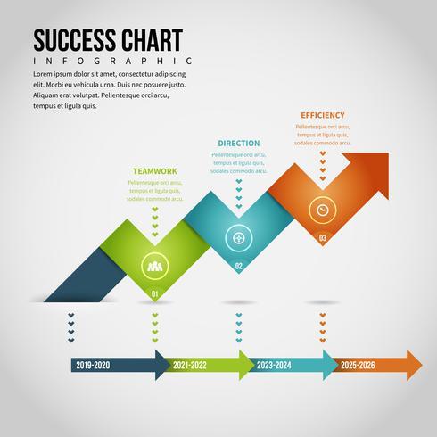 Infográfico de gráfico de sucesso