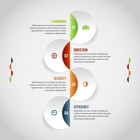 Infografía de costuras circulares