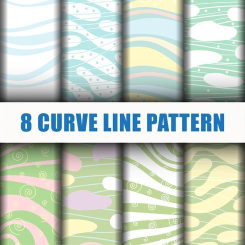 8 Curve line pattern background