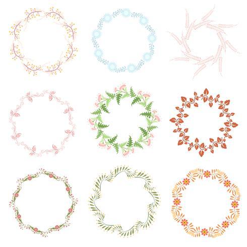 Conjunto de elementos decorativos de arte de linha. Vetor