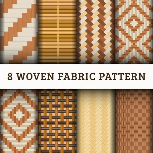 8 Woven Pattern background set collection