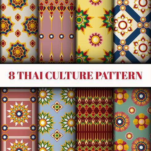 Thaise stijlbehang en patroonreeks