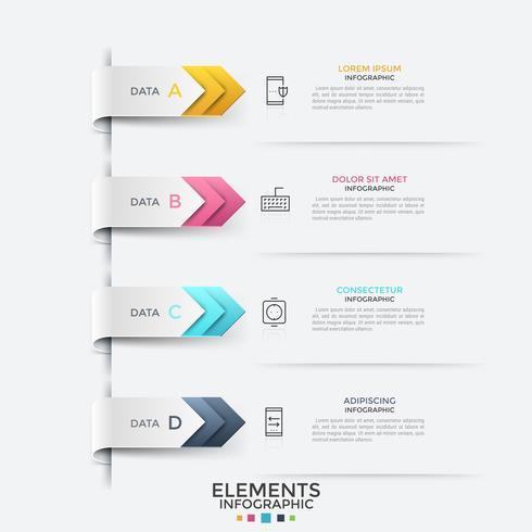 Modèle de conception infographique créatif