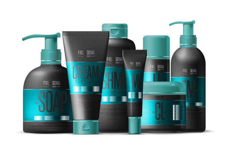 Cosmetic Brand Bottle Set.