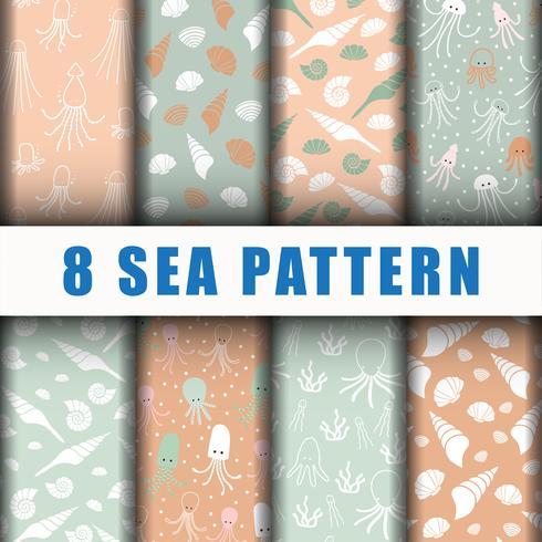 8 beaux motifs de fond de mer