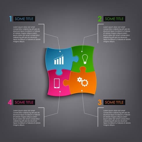 Modèle de conception de puzzle graphique d'informations