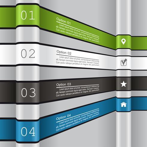 Plantilla de informe de infografía.