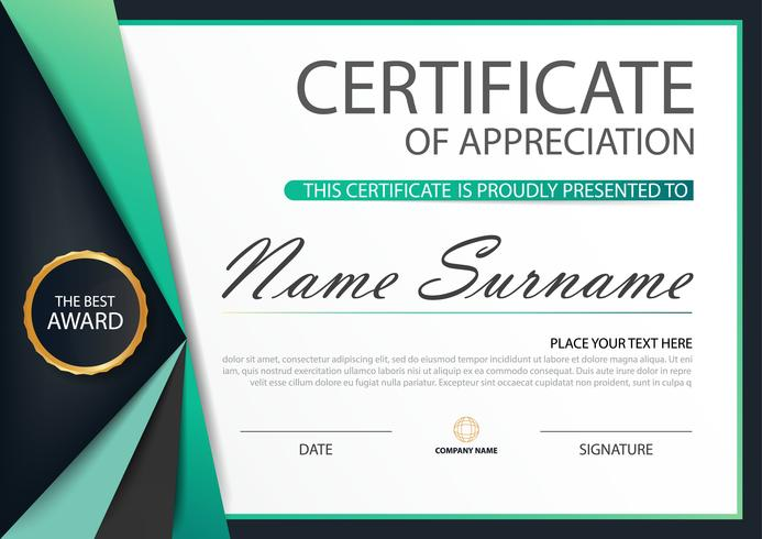 Green Label Elegance horizontales Zertifikat
