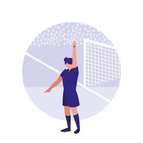 personnage d'avatar homme arbitre de football vecteur