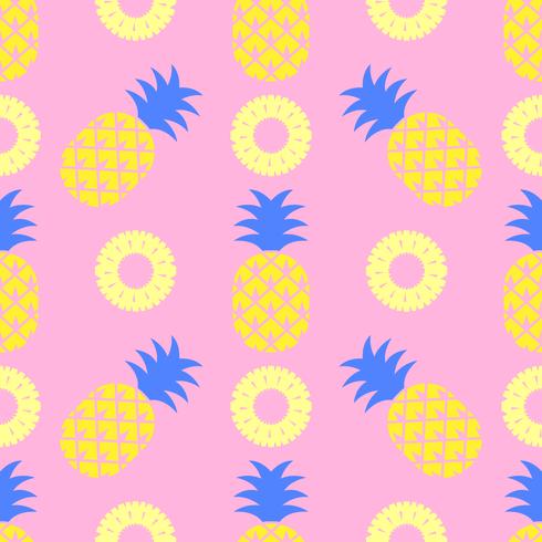 Pop Art Pineapple Seamless Pattern