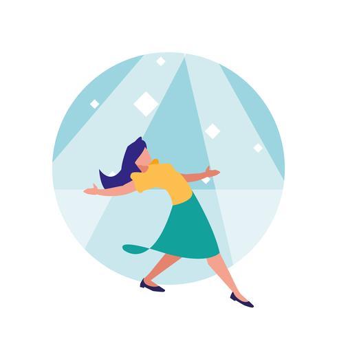 femme danseuse de personnage avatar disco